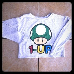 Women's Mario Bros for Forever 21 '1-Up' Crop Top
